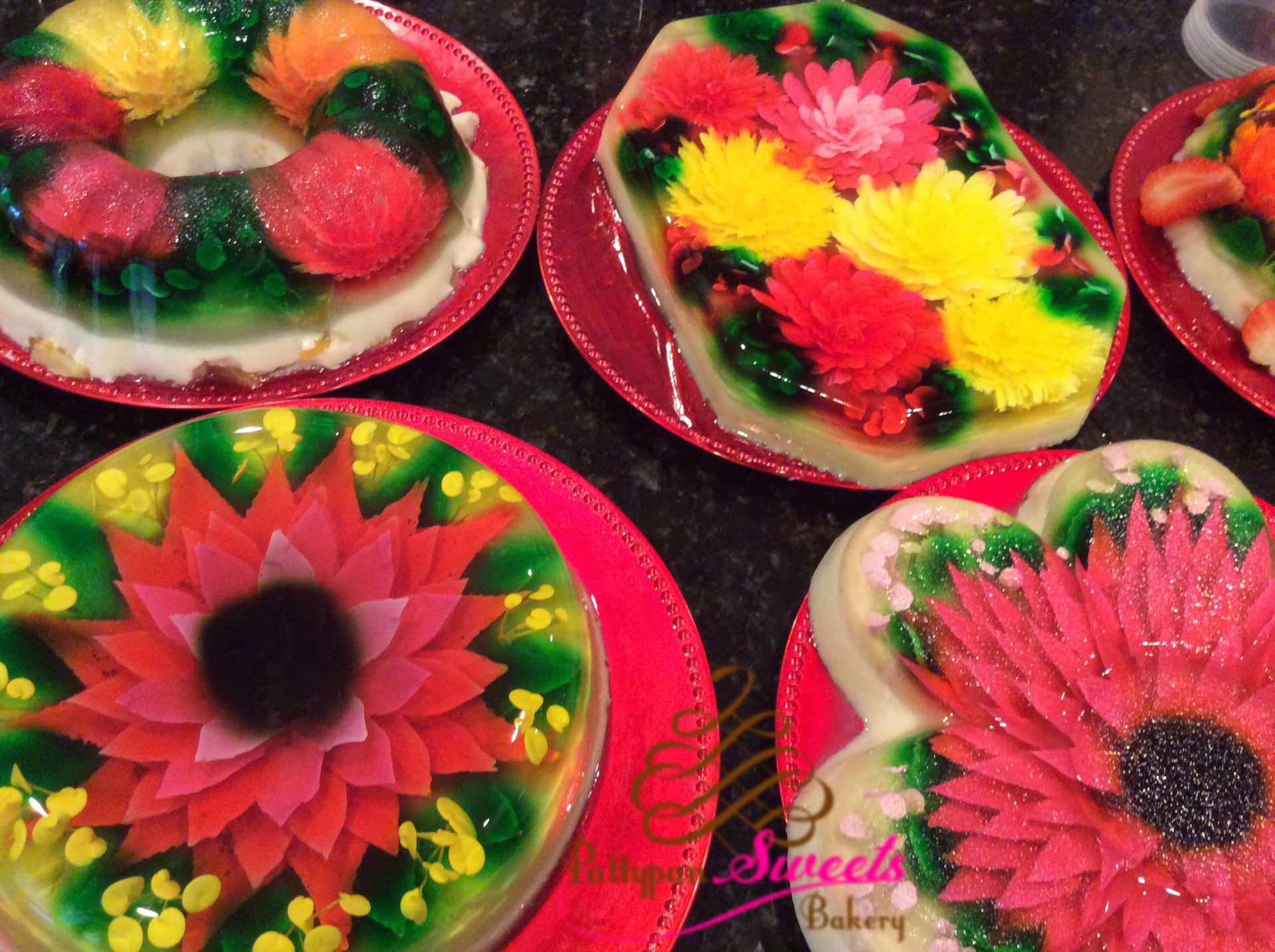 3d Artistic Jello Pattypan Sweets